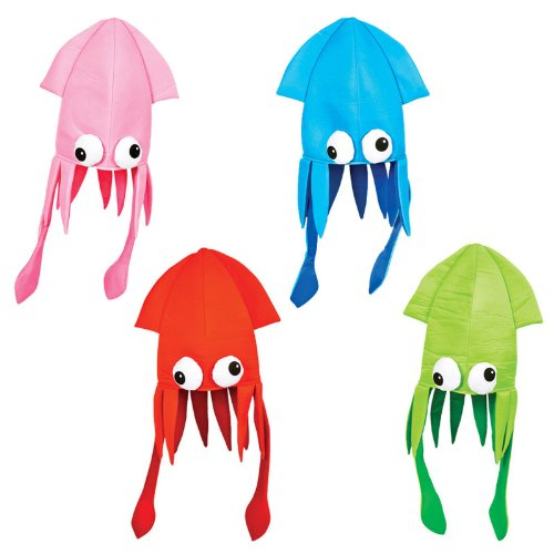 Squid Costume For Adults (Squid Hat Party Accessory, Colors may vary)