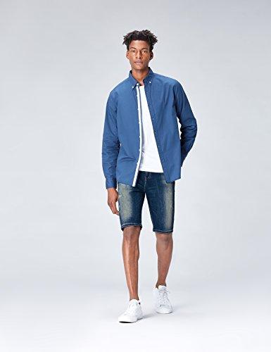 Uomo Blu hardin Pantaloncini Damaged Wash Find Di Jeans 1Wqtwnn78P
