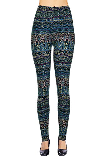 VIV Collection Plus Size Printed Leggings (Atlantis)