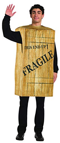 Fragile Box Halloween Costume (Rasta Imposta Fragile Crate Costume Funny Story Christmas Leg Lamp Box Adult One)