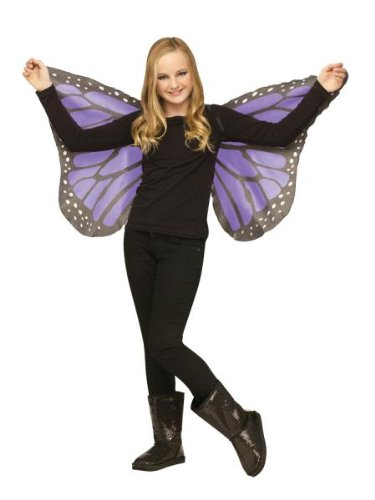 Fun World Soft Butterfly Wings Orchid for Halloween, School Acting, Costume Party, for Girls (Kids) Child Size (1 Pack) -