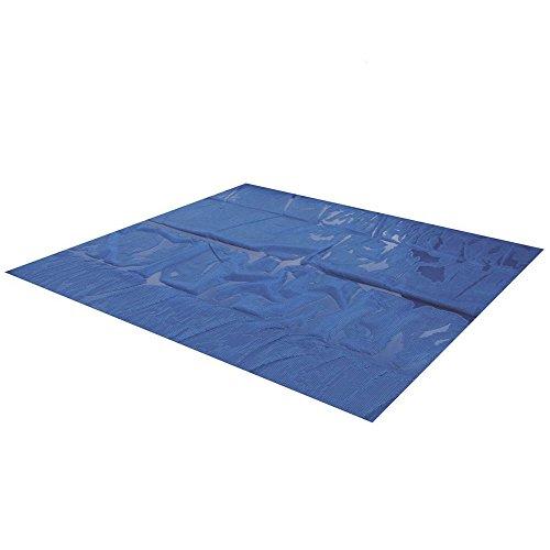 Miganeo® 732x366 cm Premium Solarplane schwarz/blau Poolheizung rechteckig für Pool