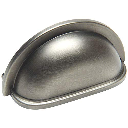 10 Pack - Cosmas 4310AS Antique Silver Cabinet Hardware Bin Cup Drawer Handle Pull - 3