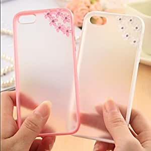 DD Meteor Shower Flower Pattern Metal Jewelry TPU Case for iPhone 6 Plus(Assorted Color) , Pink