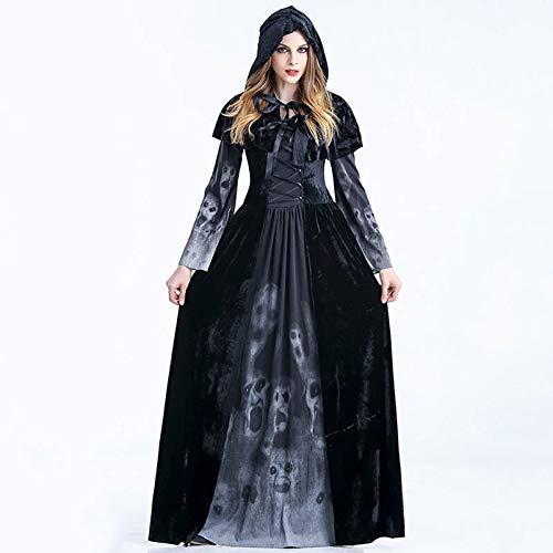 LYLLYL Juegos de rol de la Mujer Bruja Fantasma Negra, Fiesta de ...