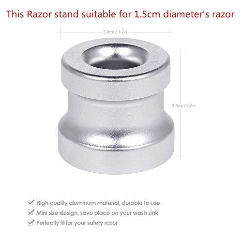 Anself Men's Shaving Razor Stand Holder Aluminum Alloy Safety Razor Base Stand Good Thanksgiving/Christmas Gift