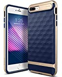 Caseology Parallax for iPhone 8 Plus Case (2017) / iPhone 7 Plus Case (2016) - Award Winning Design - Navy Blue