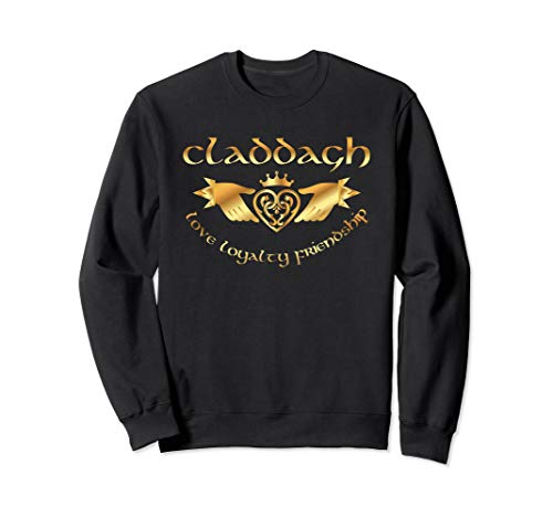 - Irish Claddagh Shirt Celtic St Paddys Friendship Sweatshirt