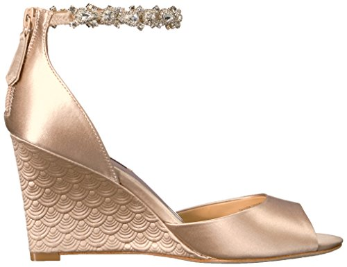 Badgley Mischka Women's Tahlia Wedge Sandal Nude free shipping low shipping discount Cheapest 2014 new online free shipping in China cheap genuine 30wZH
