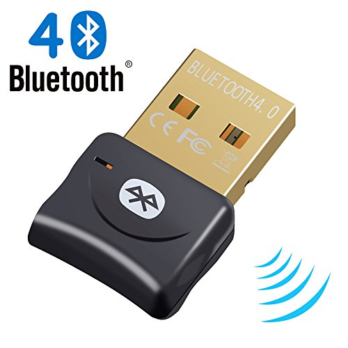 Bluetooth Adapter, Bluetooth 4.0 + EDR USB Adapter USB Dongle for PC with Windows 10/8.1/8/7/Vista, Music, Call, Data, Keyboard, Mouse, Printer, BT06A