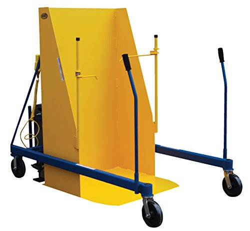 Vestil-TCD-U-72-DC-Universal-DC-Trash-Can-Dumper-Steel-161-116-inches-Overall-Rotated-Maximum-Height-135-degree-Maximum-Angle-400-lb-Uniform-Capacity-BlueYellow
