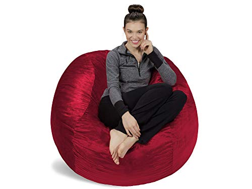 Sоfа Sаck - Bеаn Bаgs Home Decor Plush, Ultra Soft Bean Bag Chair - Memory Foam Bean Bag Chair with Microsuede Cover - Stuffed Foam Filled Furniture and Accessories for Dorm Room - Cinnabar 4' ()