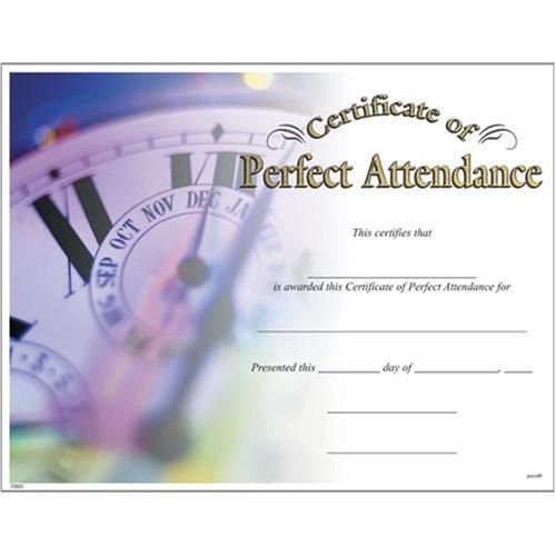 (Award Certificates (10 Pack) - Perfect Attendance)