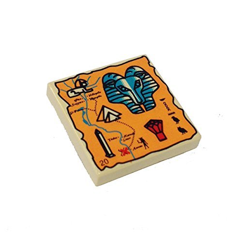 Decorated Tile (Lego Parts: Tile, Decorated 2 x 2 with