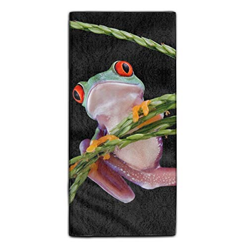 Funny Red Eye Tree Frogs Printed Kitchen Towel Extra Absorbent Personalized Gift- For Bathroom/Kitchen -