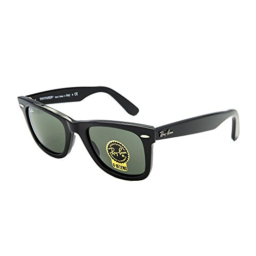 Ray-Ban Black Classic Wayfarers RB 2140 901 50mm + Free SD Glasses + Cleaning - Ban Ray 50 2140