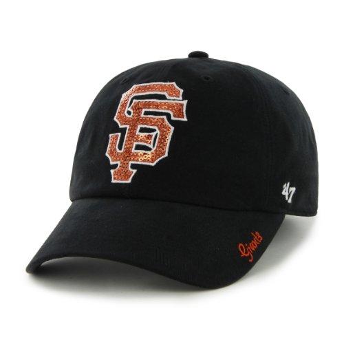 MLB San Francisco Giants Women's Sparkle Team Color Cap, One-Size, Black (San Fran Giants Cap)