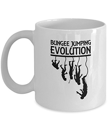 Bungee Jumping Evolution Human Evolution Special Coffee Mugs- 11 OZ Funny Coffee Mugs Tea Cup Gift Ideas White Coffee Mugs