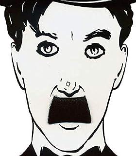 dc489ecda8e Mens Black Charlie Chaplin False Fake Stick On Adhesive Moustache Fancy  Dress Costume Accessory