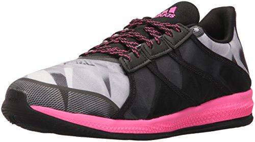 Adidas Prestaties Vrouwen Gymbreaker Stuiteren Cross-trainer Schoen Zwart / Shock Pink Mid Grijs S