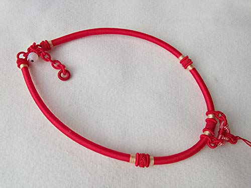 FidgetFidget Silk Thread Cord Hand-Knotted Pendant Necklace Jade Beads 5MM USA by EUBred