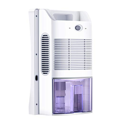 MADETEC Small Dehumidifier 2L Compact and Portable Mini Dehumidifier with Auto Shut-Off for Basement, Bedroom, Home,Kitchen, Large Room, Caravan, Office, Garage, Bathroom 300 sq ft