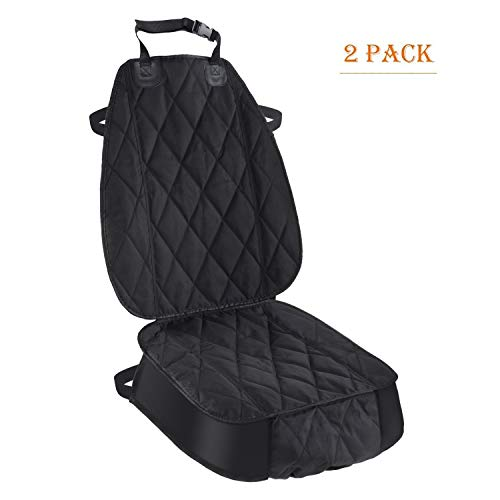 - Pet Deluxe Thick Front Car Seat Cover for Car and SUV Waterproof Nonslip Seat Covers for Pet Dogs and Cats Black (2 pack)