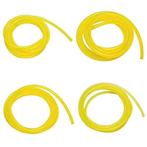 Mazur 4pcs 1.8m Fuel Line Hose Lubricant Tubing fit Weedeater Chainsaw Engines Set Replacement Kit Petrol Gas Line Pipe(Yellow)