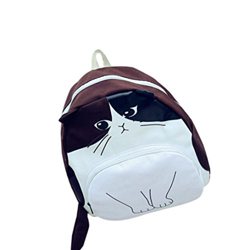 Hot Sale Backpack School Bags, Rakkiss Women Canvas Ladies Casual Bookbags Lovely Cat Printing Animals Pattern Shoulder Bag -