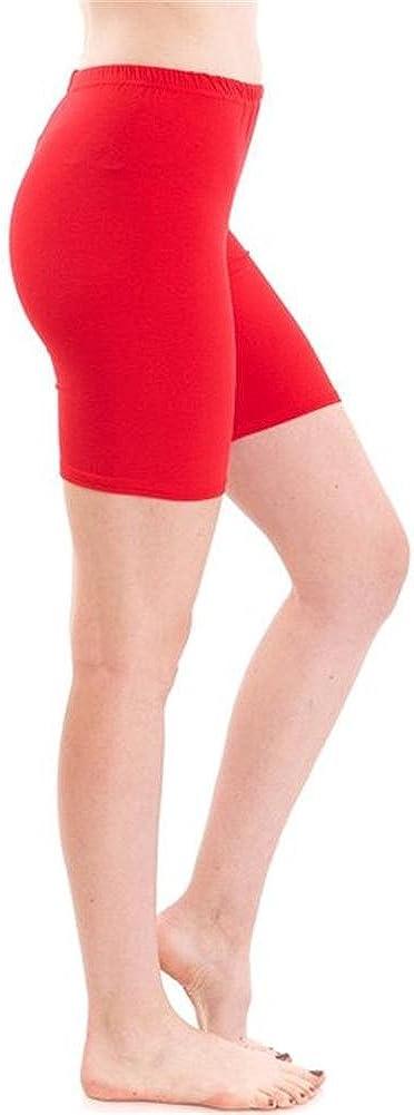 COMMENCER Ladies Basic Stretch Athletic Legging Active Short Viscose