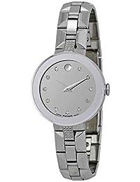 606815 Movado Sapphire Ladies Watch-Silver