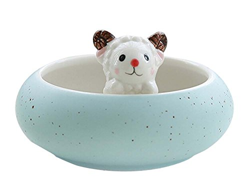 Lovely Lamb Porcelain Pot Plant Pot for Home Office Desk Decoration