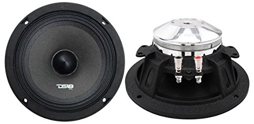 DS18 EXL-MM64NB Neodymium 6.5-Inch Midrange Loud Speaker 4-Ohm 400 Watts Max Extremely Loud Series - (1 Speaker) ()