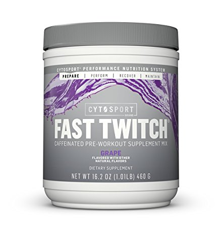 Cytosport Fast Twitch Caffeinated Pre-Workout Supplement Mix - Grape (20 servings)