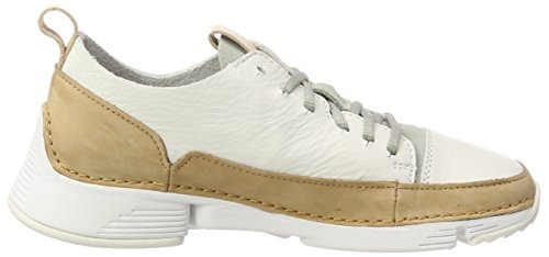Spark Blanc Femme Clarks Sneakers Leather Tri Basses white Pq5TwWSXT
