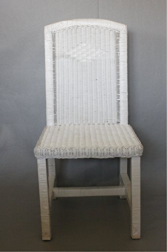 - WICKER DIAMOND WEAVE SIDE CHAIR