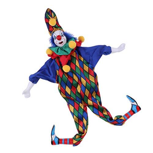 Homyl Funny Smile Clown Man Figure Doll Toy Halloween Decor Ornaments Birthday Gift 41cm #3
