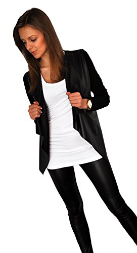 Giacca da donna Sportiva Cardigan Streetwear Sexy Look pelle sintetica (192)