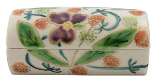 Flower Kiyomizu Yaki Porcelain 3.5inch Toothpick holder by Watou.asia