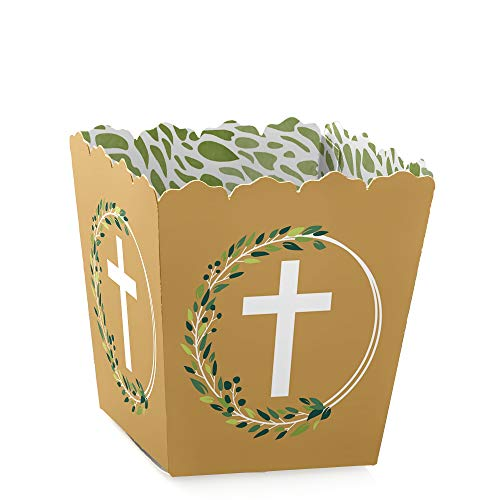 Elegant Cross - Party Mini Favor Boxes - Religious Party Treat Candy Boxes - Set of 12
