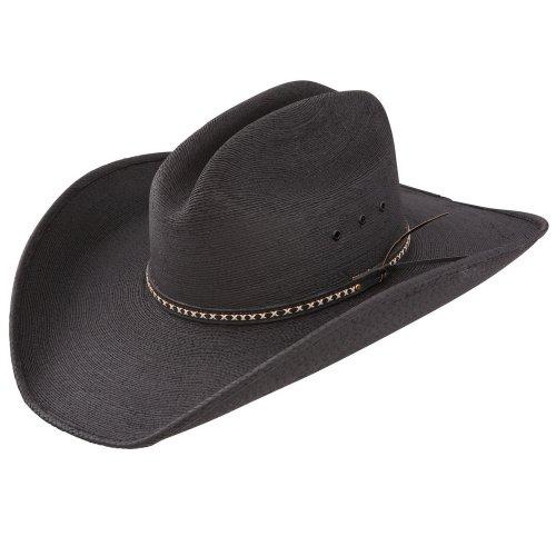 Leather Resistol - Jason Aldean Men's Asphalt Straw Cowboy Hat Black Medium
