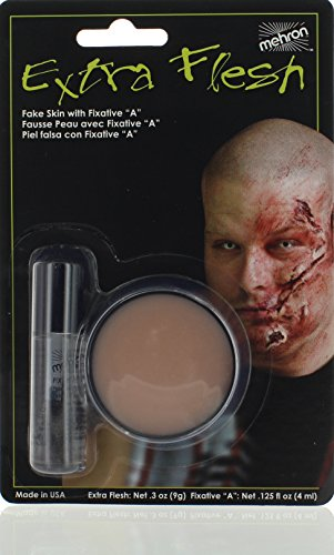 Mehron Makeup Extra Flesh with Fixative A for Special Effects, Halloween, Movies (.3 oz) ()