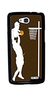 Basketball Sport Hard Case for LG Optimus L90 ( Sugar Skull )