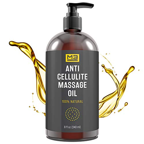 Premium Anti Cellulite Treatment Massage Oil - All Natural Ingredients – Penetrates Skin 6X Deeper Than Cellulite Cream - Targets Unwanted Fat Tissues & Improves Skin Firmness from M3 Naturals