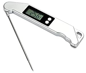 Cinlla® Folding barbecue cooking thermometer digital kitchen food thermometer for barbecue best for home ,meat, BBQ , milk, bath water
