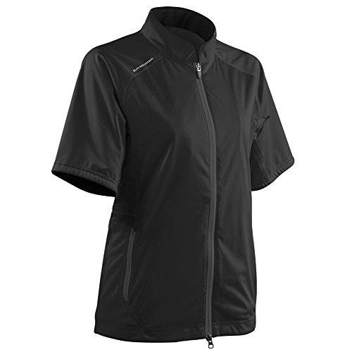 Sun Mountain Women's Rainflex Shortsleeve Golf Jacket - Black (Large) ()