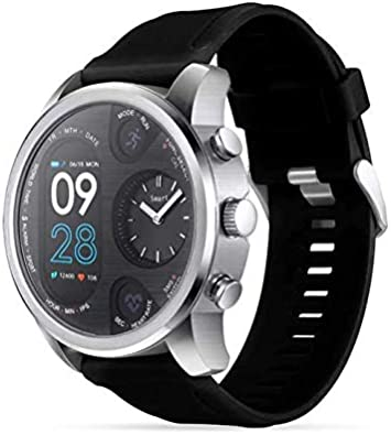 Amazon.com: LEMFO T3 Dual Display Smart Watch for Men (Black ...