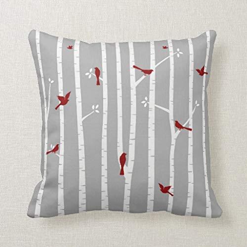 CELYCASY - Funda de cojín Decorativa con diseño de pájaros ...
