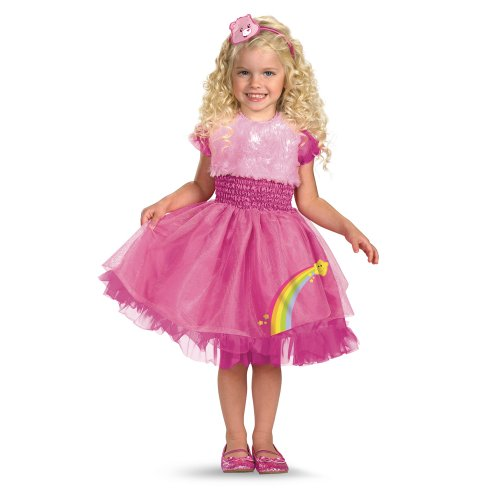 Care Bears Frilly Cheer Bear Costume, Pink/Rainbow, Small