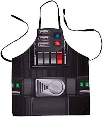 Grill and Cook on The Dark Side One Size 4 Piece Set Seven20 Star Wars Darth Vader Apron Oven Mitts and Pot Holder Trivet Set